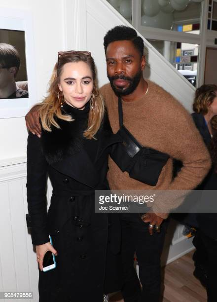 Suki Waterhouse and Colman Domingo stop by DIRECTV Lodge presented by ATT during Sundance Film Festival 2018 on January 21 2018 in Park City Utah