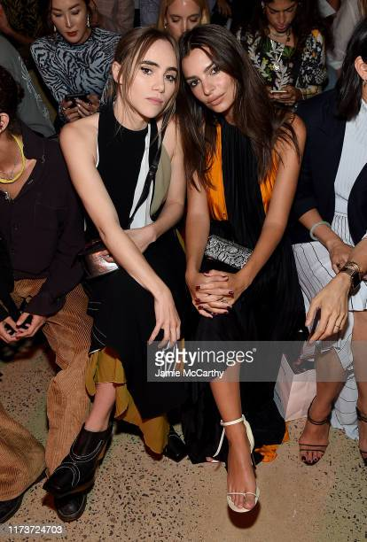 Suki Waterhouse and Emily Ratajkowski attend the front row for Proenza Schouler during New York Fashion Week The Shows on September 10 2019 in New...