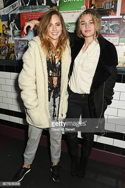 Suki Waterhouse and Immy Waterhouse attend the after party following the European Premiere of 'Pride And Prejudice And Zombies' at Bounce Ping Pong...