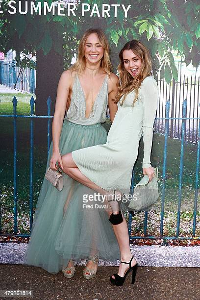 Suki Waterhouse and Immy Waterhouse attend the Serpentine Summer Party at The Serpentine Gallery on July 2 2015 in London England