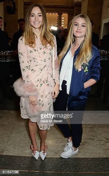 Suki Waterhouse and Immy Waterhouse attend the Topshop Unique at The Tate Britain on February 21 2016 in London England