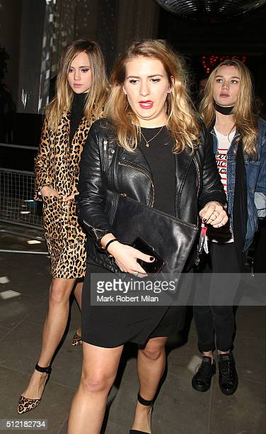 Suki Waterhouse and Immy Waterhouse attending the The Brit Awards Warner Music Group After Party on February 24 2016 in London England