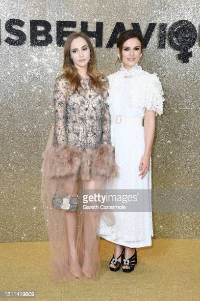 Suki Waterhouse and Keira Knightley attend the Misbehaviour World Premiere at The Ham Yard Hotel on March 09 2020 in London England