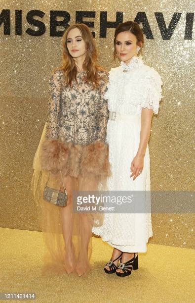 Suki Waterhouse and Keira Knightley attend the World Premiere of Misbehaviour at The Ham Yard Hotel on March 09 2020 in London England