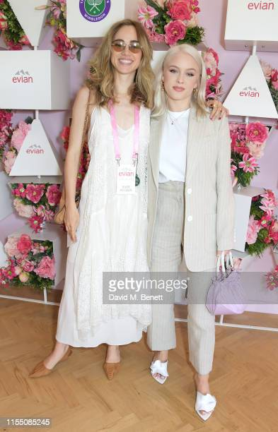 Suki Waterhouse and Zara Larsson attend the evian Live Young suite at The Championships, Wimbledon 2019 on July 11, 2019 in London, England.
