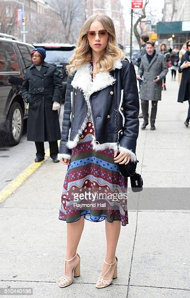 Suki Waterhouse arrive at Tommy Hilfiger fashion show during Fall 2016 New York Fashion Week on February 15 2016 in New York City