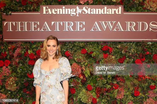 Suki Waterhouse arrives at The 64th Evening Standard Theatre Awards at the Theatre Royal Drury Lane on November 18 2018 in London England