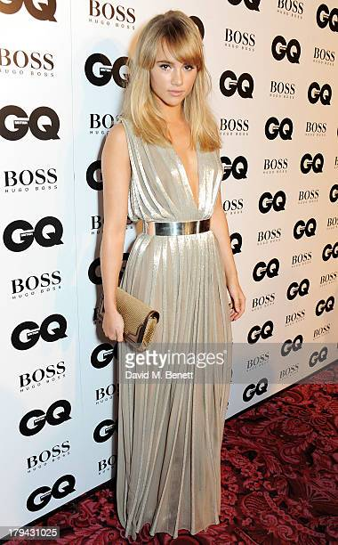Suki Waterhouse arrives at the GQ Men of the Year awards at The Royal Opera House on September 3 2013 in London England
