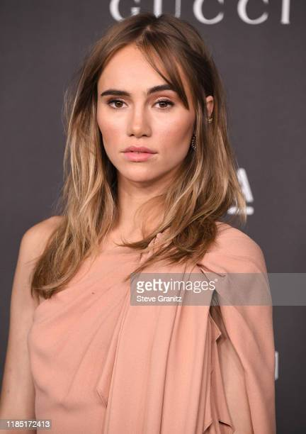 Suki Waterhouse arrives at the LACMA Art Film Gala Presented By Gucci on November 02 2019 in Los Angeles California