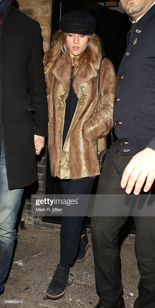 Suki Waterhouse at the Chiltern Firehouse on February 11, 2016 in London, England.