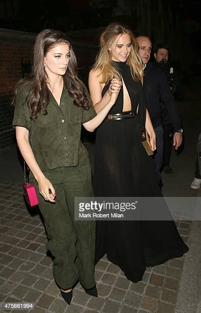 Suki Waterhouse at the Chiltern Firehouse on June 2 2015 in London England