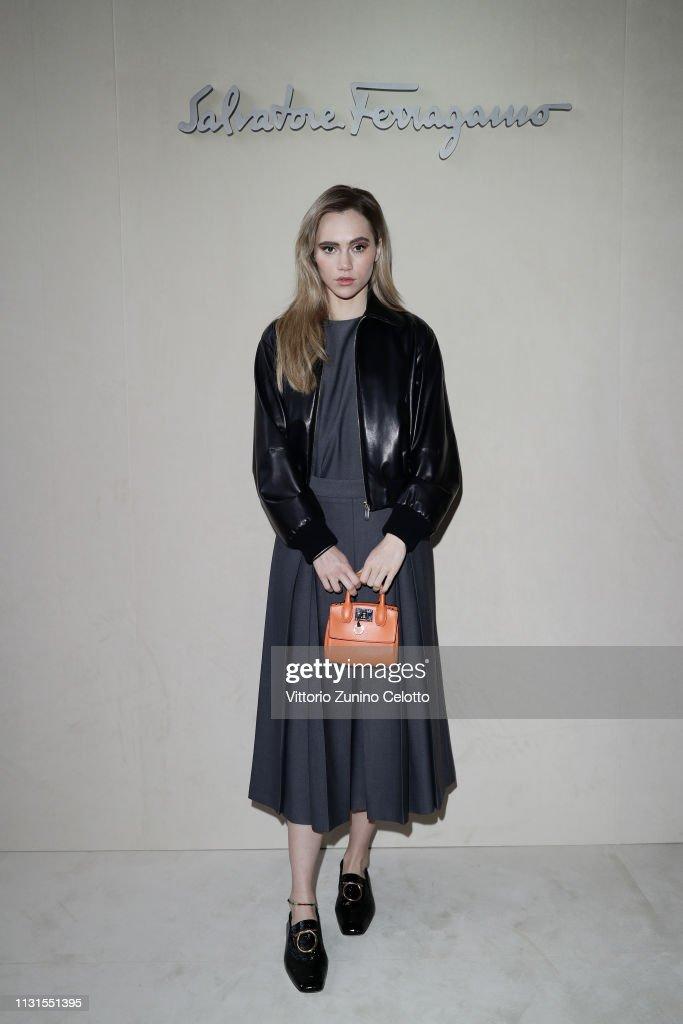 Salvatore Ferragamo - Arrivals: Milan Fashion Week Autumn/Winter 2019/20 : News Photo