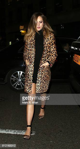 Suki Waterhouse attending the The Brit Awards Warner Music Group After Party on February 24 2016 in London England