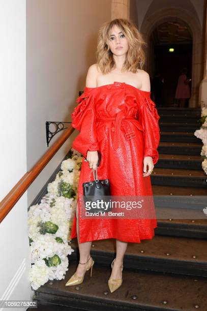 Suki Waterhouse attends a party celebrating Edward Enninful's one year anniversary as EditorinChief of British Vogue at The National Portrait Gallery...