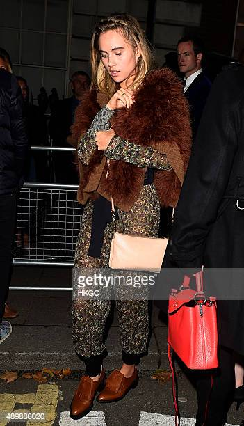 Suki Waterhouse attends Annabel's member's club for an exclusive performance from Selena Gomaz and VIP dinner on September 24 2015 in London England