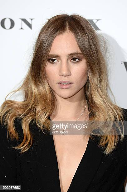 Suki Waterhouse attends at Vogue 100 A Century Of Style at the National Portrait Gallery on February 9 2016 in London England