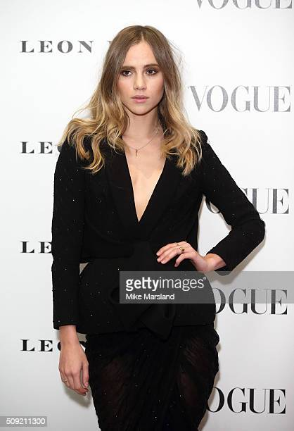 Suki Waterhouse attends at Vogue 100: A Century Of Style atNational Portrait Gallery on February 9, 2016 in London, England.