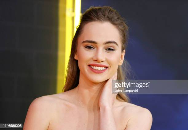 Suki Waterhouse attends Pokemon Detective Pikachu US Premiere at Times Square on May 02 2019 in New York City