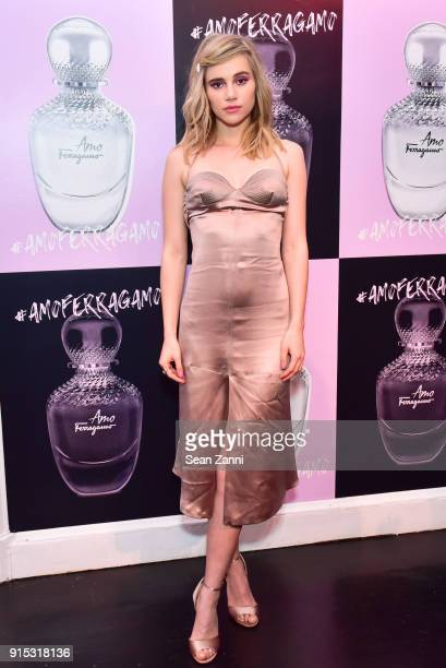 Suki Waterhouse attends Salvatore Ferragamo Suki Waterhouse celebrate AMO Ferragamo on February 6 2018 in New York City