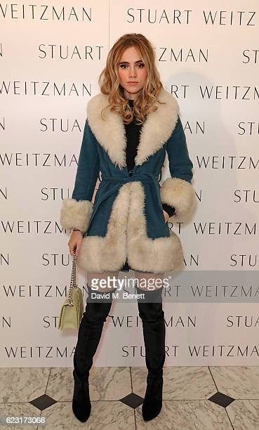 Suki Waterhouse attends Stuart Weitzman's private VIP dinner at Royal Academy of Arts to celebrate opening of it's London flagship boutique on...