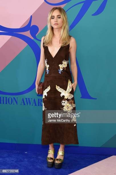 Suki Waterhouse attends the 2017 CFDA Fashion Awards at Hammerstein Ballroom on June 5 2017 in New York City