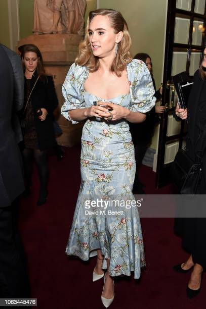 Suki Waterhouse attends The 64th Evening Standard Theatre Awards at the Theatre Royal Drury Lane on November 18 2018 in London England