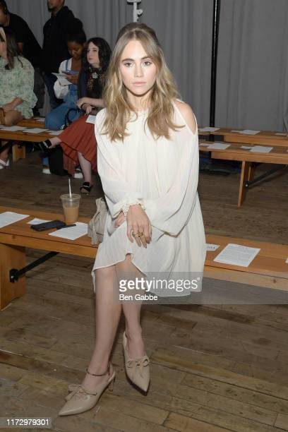 Suki Waterhouse attends the Adeam Spring/Summer 2020 Show at West Edge on September 07 2019 in New York City