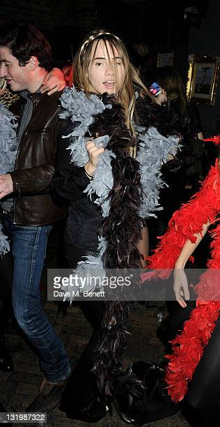 Suki Waterhouse attends the Alice Olivia Black Tie Carnival hosted by designer Stacey Bendet at Paradise by Way of Kensal Green on November 9 2011 in...
