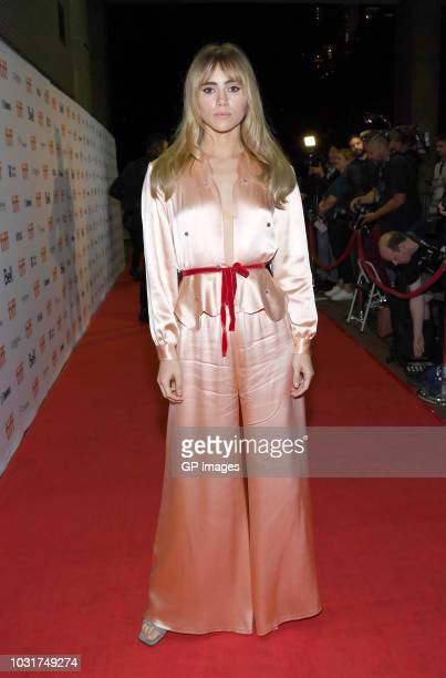 """Suki Waterhouse attends the """"Assassination Nation"""" premiere during 2018 Toronto International Film Festival at Ryerson Theatre on September 11, 2018..."""