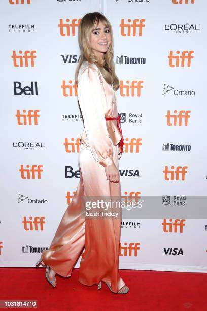 Suki Waterhouse attends the 'Assassination Nation' premiere during 2018 Toronto International Film Festival at Ryerson Theatre on September 11 2018...