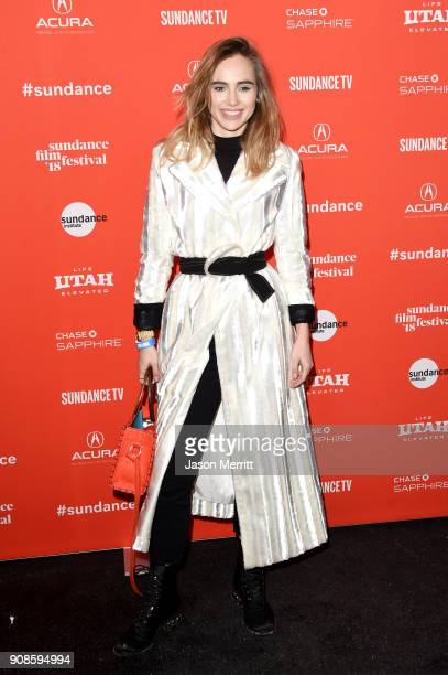 Suki Waterhouse attends the 'Assassination Nation' Premiere during the 2018 Sundance Film Festival at Park City Library on January 21 2018 in Park...