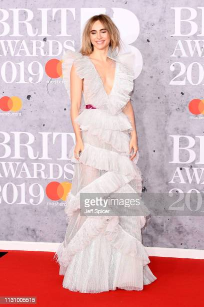 Suki Waterhouse attends The BRIT Awards 2019 held at The O2 Arena on February 20 2019 in London England