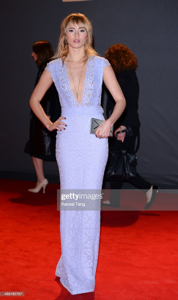 Suki Waterhouse attends the British Fashion Awards 2013 held at the London Coliseum on December 2, 2013 in London, England.