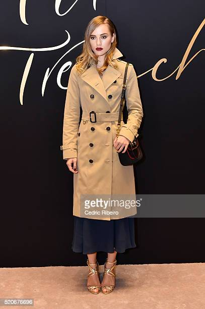 'DUBAI UNITED ARAB EMIRATES APRIL 12 Suki Waterhouse attends the Burberry Art of the Trench Middle East event at Mall of the Emirates on April 12...