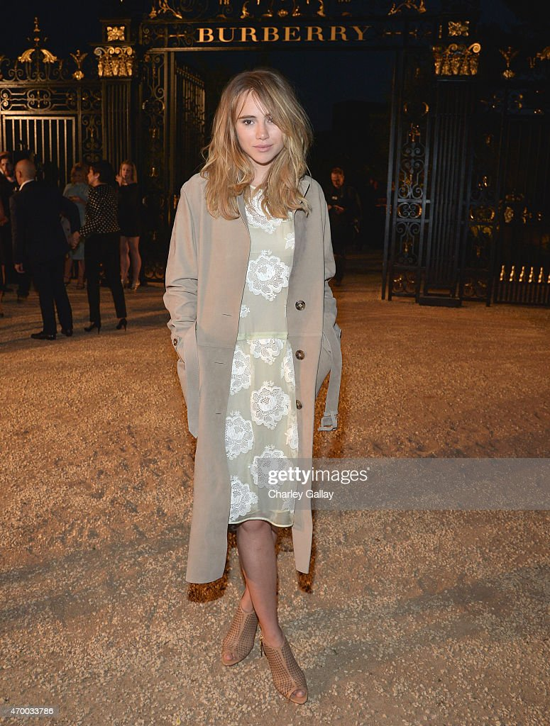 Suki Waterhouse attends the Burberry 'London in Los Angeles' event at Griffith Observatory on April 16, 2015 in Los Angeles, California.