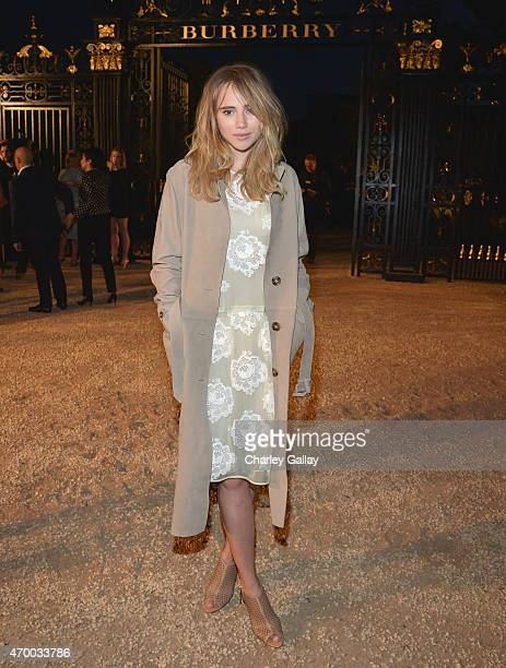 Suki Waterhouse attends the Burberry 'London in Los Angeles' event at Griffith Observatory on April 16 2015 in Los Angeles California