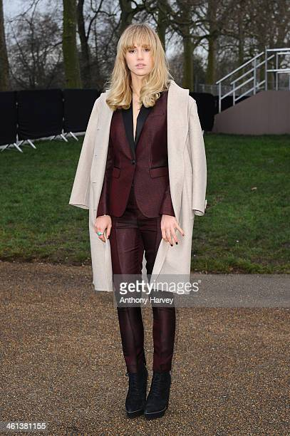 Suki Waterhouse attends the Burberry Prorsum show during The London Collections Men Autumn/Winter 2014 on January 8 2014 in London England