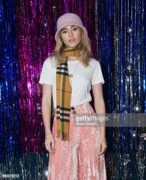 Suki Waterhouse attends the Burberry x Cara Delevingne Christmas Party on December 2 2017 in London England