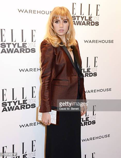Suki Waterhouse attends the Elle Style Awards 2014 at One Embankment on February 18 2014 in London England