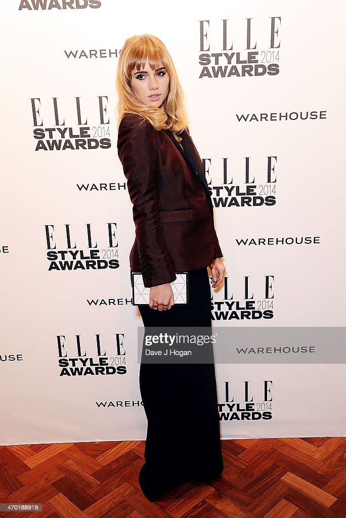 Suki Waterhouse attends the Elle Style Awards 2014 at one Embankment on February 18, 2014 in London, England.