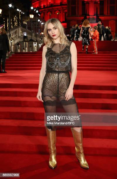 Suki Waterhouse attends The Fashion Awards 2017 in partnership with Swarovski at Royal Albert Hall on December 4 2017 in London England