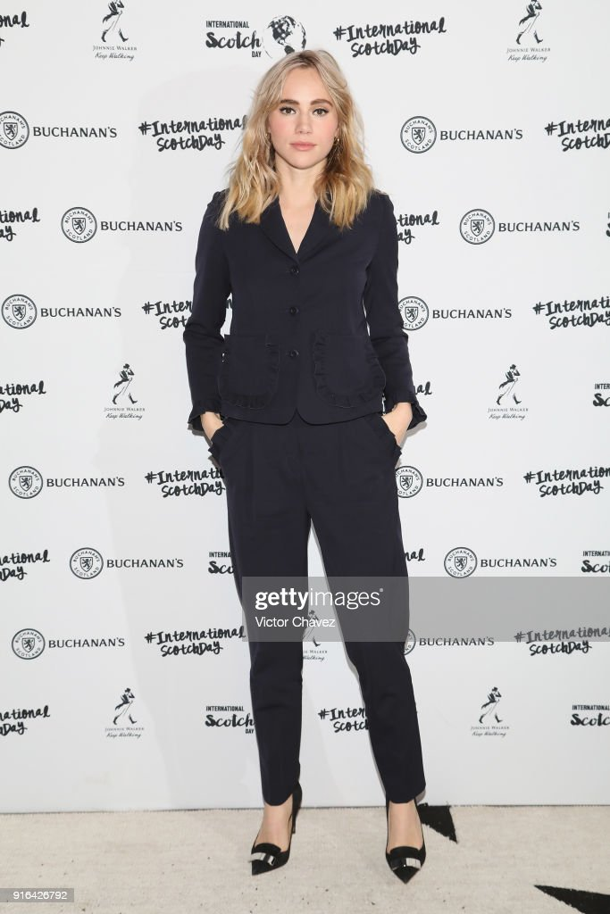 Suki Waterhouse attends the international scotch day at Hotel Antiguo Reforma on February 9, 2018 in Mexico City, Mexico.