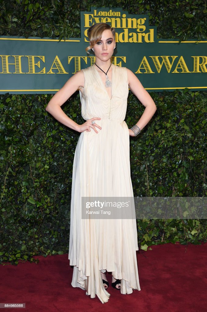 Suki Waterhouse attends the London Evening Standard Theatre Awards at Theatre Royal on December 3, 2017 in London, England.