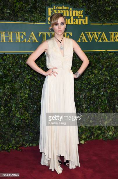 Suki Waterhouse attends the London Evening Standard Theatre Awards at Theatre Royal on December 3 2017 in London England