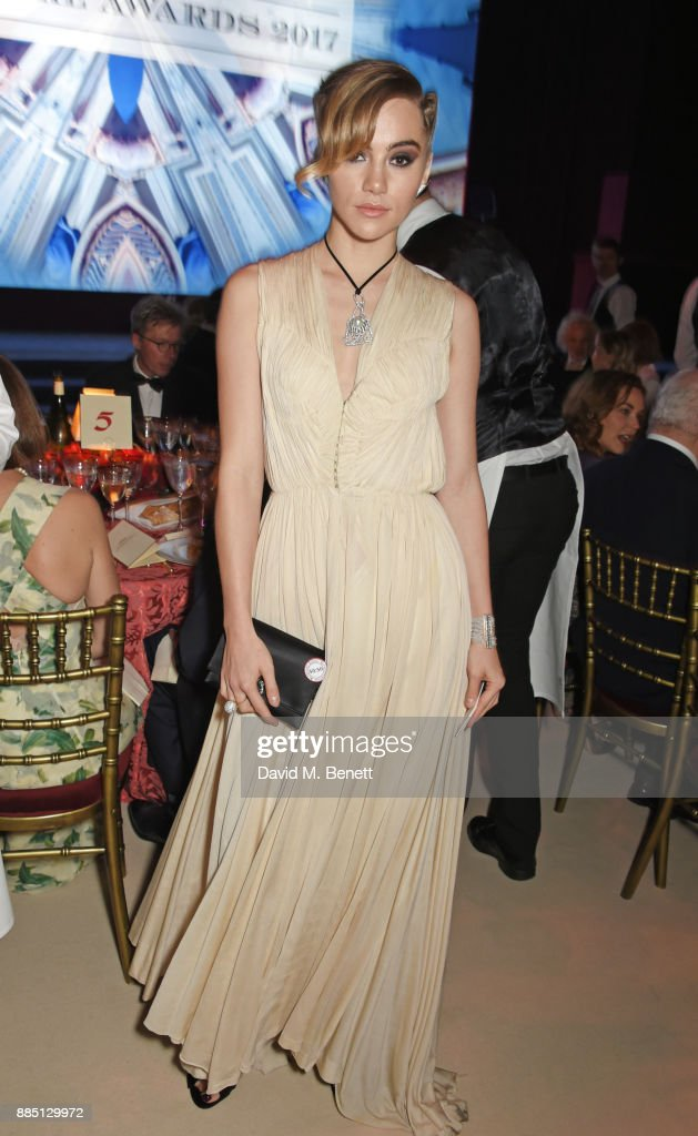 Suki Waterhouse attends the London Evening Standard Theatre Awards 2017 at the Theatre Royal, Drury Lane, on December 3, 2017 in London, England.