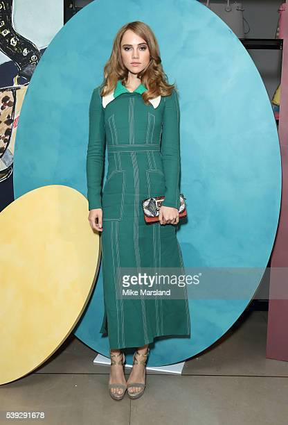 Suki Waterhouse attends the private Burberry event during The London Collections Men SS17 at Burberry on June 10 2016 in London England