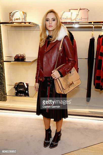 Suki Waterhouse attends the reopening of TODs London Flagship Boutique at Old Bond St on September 15 2016 in London England