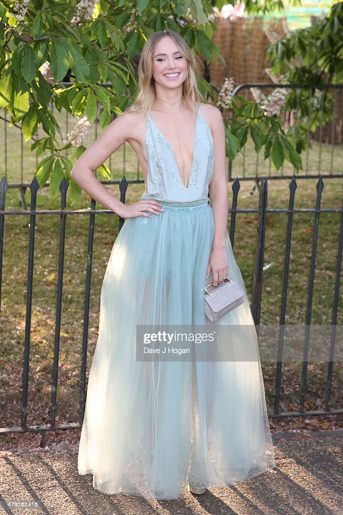 Suki Waterhouse attends The Serpentine Gallery Summer Party at The Serpentine Gallery on July 2, 2015 in London, England.
