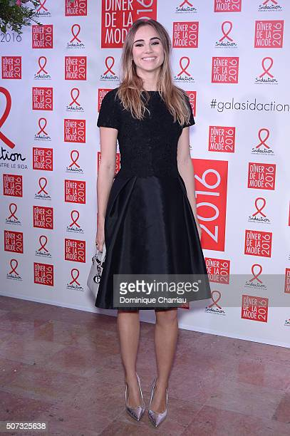 Suki Waterhouse attends the Sidaction Gala Dinner 2016 as part of Paris Fashion Week on January 28 2016 in Paris France