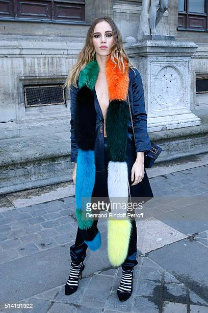 Suki Waterhouse attends the Sonia Rykiel show as part of the Paris Fashion Week Womenswear Fall/Winter 2016/2017 on March 7 2016 in Paris France